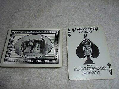 Vintage Green River Distilling Whiskey playing cards used Owensboro KY