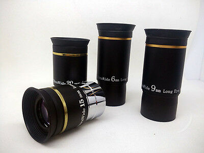"""1.25"""" 66 degree wide angle eyepiece series"""