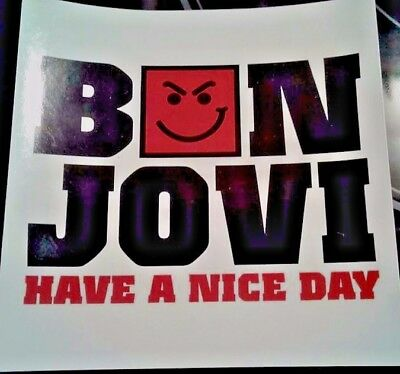 Pair of 2 BON JOVI Have A Nice Day 2005 Promo Stickers 4x4 NOS FREE SHIPPING
