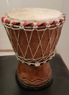 African old Drum djembe wood carved