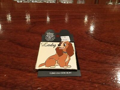 disney auction pin lady le 1000  retired