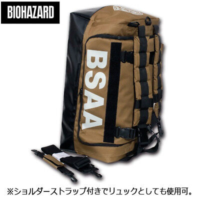 BIOHAZARD Resident Evil BSAA duffle bag khaki F/S from JAPAN w/Track NEW