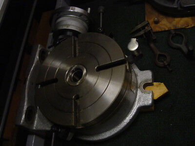 8 inch Rotary Table horizontal & Vertical 4 slots Precision