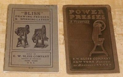 E.w. Bliss Machines -2 Catalogs/booklets- 1904-05 -Whitehead Torpedoes/shells