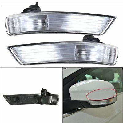 Wing Mirror Indicator Turn Signal Light Lens Cover For Ford Focus Mondeo 08-2011