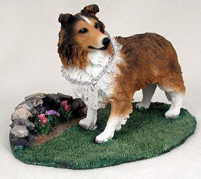 SHELTIE (SABLE)  MY  DOG  Figurine Statue Pet Lovers Gift Resin Hand Painted