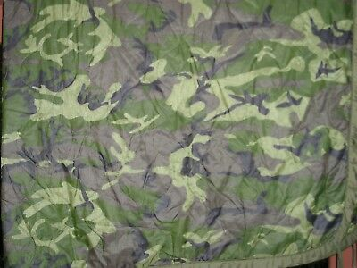 ERDL Lowland Camouflage Poncho Liner - Good to VG Condition - Free Shipping