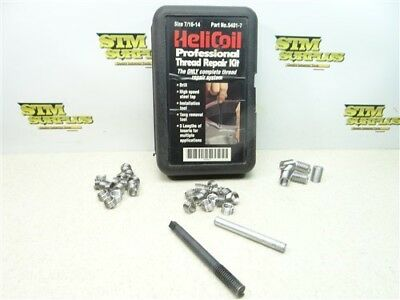 """Heli Coil Insertion Tool 7/16""""-14 & Inserts"""