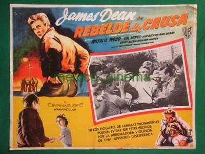 James Dean Rebeld Without A Cause Natalie Wood Orig Spanish Mexican Lobby Card