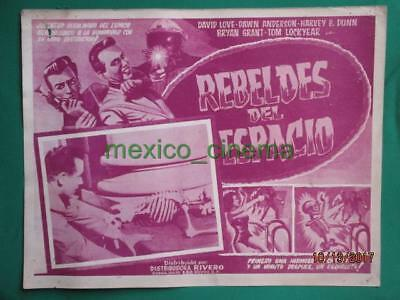 TEENAGERS FROM OUTER SPACE Horror SKELETON RAYGUN SPANISH MEXICAN LOBBY CARD