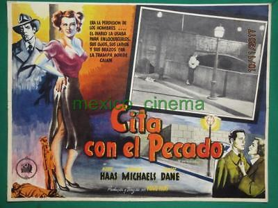 The Girl On The Bridge Beverly Michaels Breasts Femme Fatale Mexico Lobby Card 2