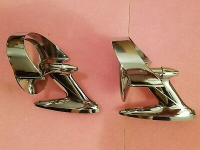 Nos Hooded Mirrors 1957 1958 Buick Century Roadmaster Super Special Oldsmobile