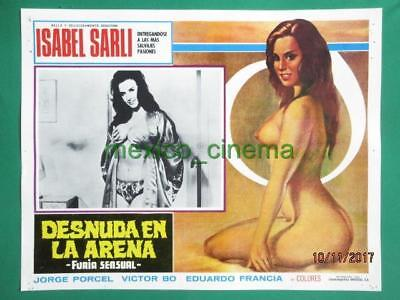 Topless Sexy Gorgeous Babe Breasts Isabel Sarli Spanish Mexican Lobby Card 6