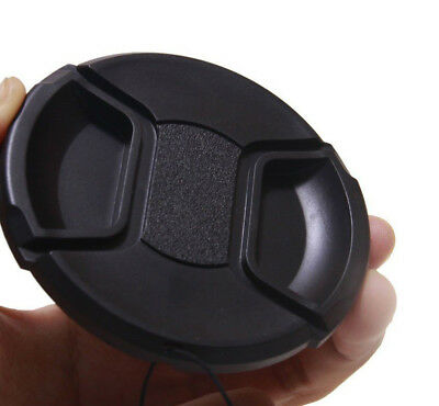 52mm center pinch snap on Front Lens Cap Cover for Canon Nikon Sony w string