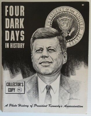 1963  Four Dark Days In History John F. Kennedy Magazine              (Inv14856)