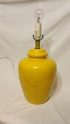 Huge Retro Yellow Lamp Base