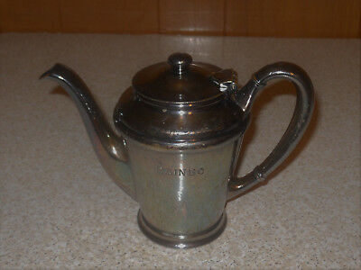 1928 Rainbo Gardens Chicago Albert Pick Co Nickel Silver Silver Soldered Tea Pot