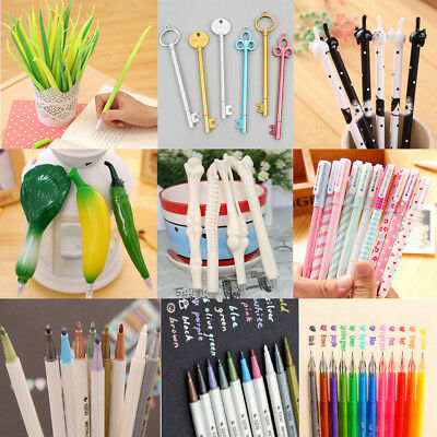 Lot Colorful Funny Ball Point Pens Gel Pens Diamond Office Paint Marker Students