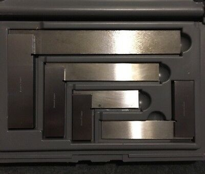 Brown and Sharpe 4 pc Machinists Precision Steel Square Set Model 599-540-2346