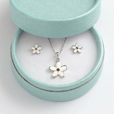 Children's Jewellery Set Girls Daisy Necklace and earrings beautiful gift box