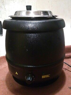 Buffalo Soup Warmer Catering Equipment 10L Stainless Steel