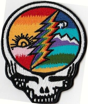 GRATEFUL DEAD  STEEL YOUR FACE  SUN/RAINBOW LIGHTING BOLT - IRON or SEW ON PATCH