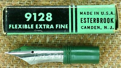 ESTERBROOK 9128 flexible extra fine fountain pen nib - new old stock