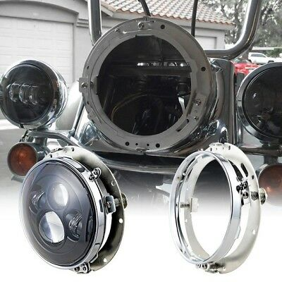 """7"""" Housing Adaptors for LED Headlights for Harley Davidson Motorcycles"""
