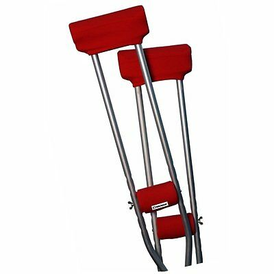 Underarm Crutch pads padded Covers set -  Atomic Red - Brand New