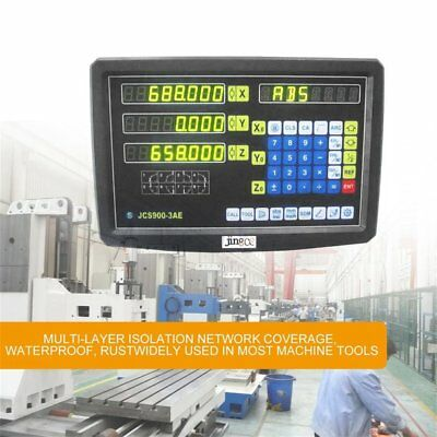 2 Axis DRO Digital Readout Display Meter F Milling Lathe Machine Linear ScaleO5