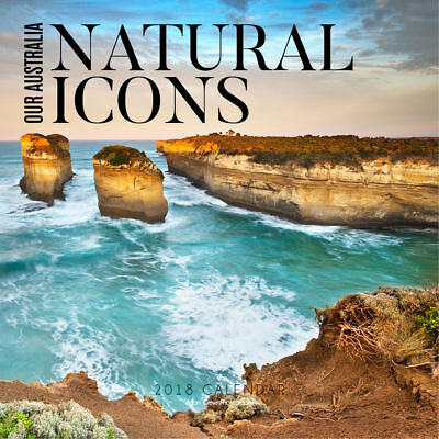 Our Australia Natural Icons 2018 Square Wall Calendar 30x30cm Paper Pocket