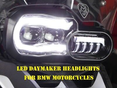 LED Daymaker Headlights With DRL for BMW Adventure F700GS and F800GS Motorcycles