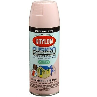 Krylon 2331 Fusion for Plastic Paint Gloss Fairytale Pink