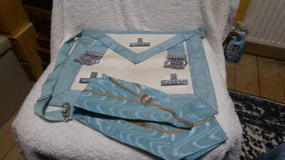 Used Masonic Past Masters apron and collar