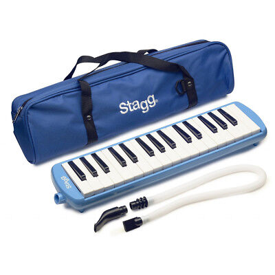 Stagg Melodica Blue Music Reed 32 Keys Mouthpiece Piano Keyboard  - MELOSTA32BL