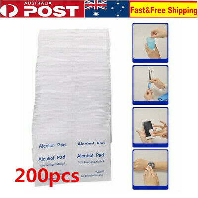 200X Alcohol Pad Antiseptic Skin Swab Wipe 70% Isopropyl Nail Cleaning Skin Prep