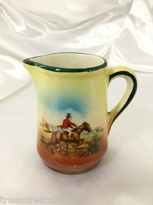 🌟 Czecholsovakia Jug Horse Jumping Fence With Rider Red Jacket & Red Roof House