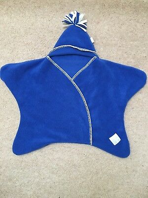 Tuppence And Crumble Star Wrap, blue, small 0-6 months