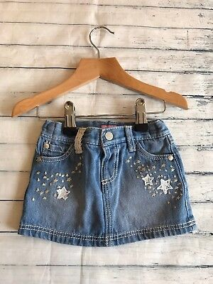 Baby Girls Clothes 6-9 Months- Pretty Denim Skirt -