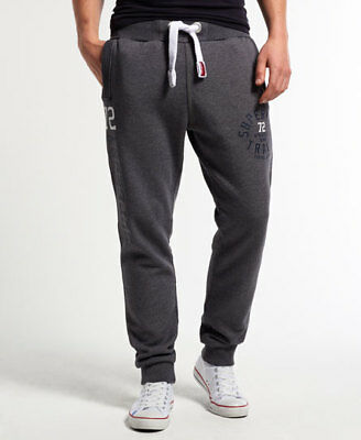 New Mens Superdry Trackster Slim Joggers Slate Grey Grindle