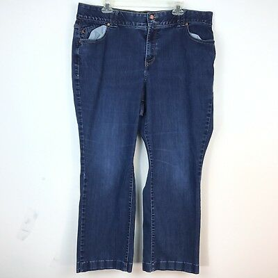 Lane Bryant Tighter Tummy Technology  Dark Wash Boot CUt Stretch jeans 38 X 27