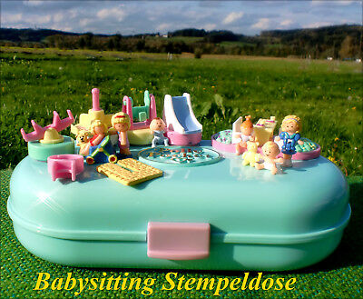 🌟💕💚POLLY POCKET Mini💚💕🌟Babysitting Stamper Baby Stempeldose Spielplatz