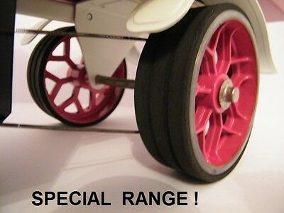 Mamod Tyres suit SW1 Steam Wagon  set of 4. Mamod Spares & Parts.