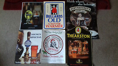 BEER PUB WALL POSTERS x 6 WILL BE SEND ROLLED UP IN A TUBE