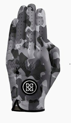 GFORE Golf Glove Men's Size L Delta Force Camo charcoal Left hand Leather New
