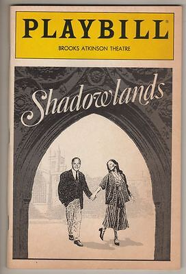 """Shadowlands""   Playbill  1990  Broadway  Jane Alexander & Nigel Hawthorne."