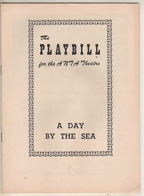 """A Day By The Sea""  Playbill  1955  FLOP  Jessica Tandy & Hume Cronyn"