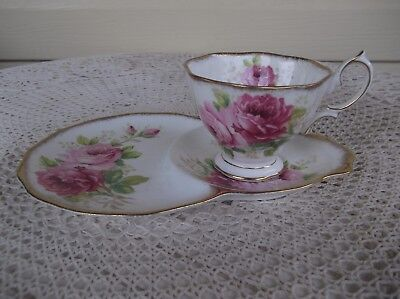 Vintage Royal Albert American Beauty TV Cup and Saucer / Tennis Set