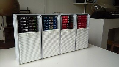 4 Audio cassette container/rack/storage. New in box!
