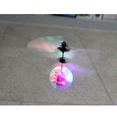 7 Colour Induction Electric Fly Ball Infrared Induction Aircraft LED Light Toy